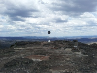 Trig station on Hassan's Walls Lookout, Lithgow